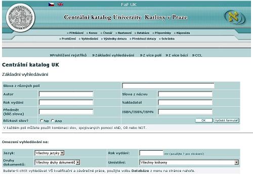 Online vyhledávání jmen